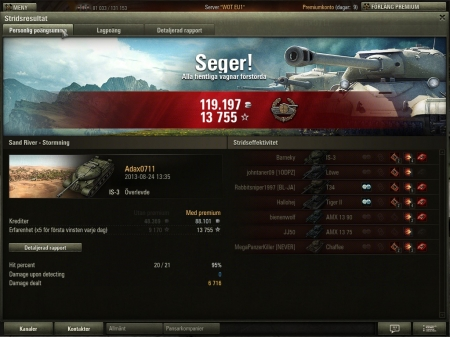 6.7k dmg with IS3 in a tier 10 game