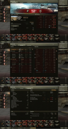 Victory! Map:  Steppes Date: Saturday, August 24, 2013 21:36:34 Vehicle: Excelsior Exp: 8,865 (x5) + Credits: 99,556  Achievements: : Top Gun, Master Gunner Mission completed! Award: Equipment added: Strong Coffee (x1)