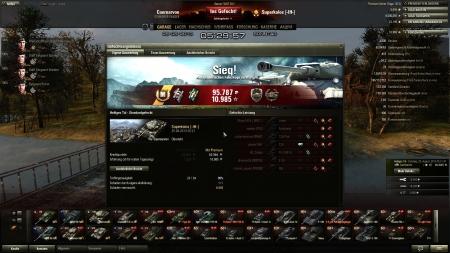Heiliges TalSonntag, 25. August 2013 05:21:47  Fahrzeug: Caernarvon Erfahrungserhalt: 10.985   ( x5 für den ersten Sieg des Tages)  my first battle with that tank