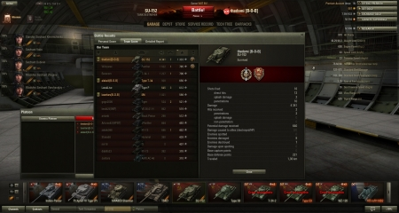 casual SU-152 game. 221 base defense points and a topgun
