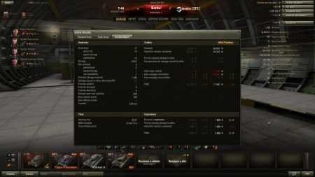 Epic game with big gunned T-44 (122mm)