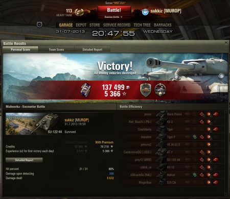 Tier 7 game...