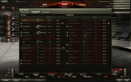 The match when i did Ace Tanker on M103.Tons of damage