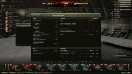 Nice game with AC. I used 90mm cannon. Got a lot of free damage out of many tanks.