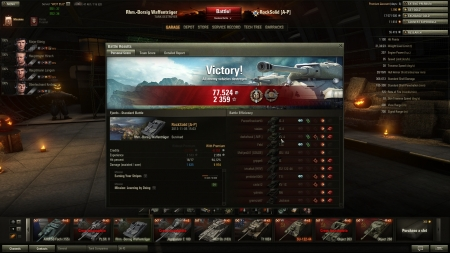 Just another day in the new T8 German TD :)