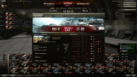 Sieg Prokhorowka 02.12.2013 19:18:09  WZ-111 model 1-4 Erfahrung:  4.434   (  x2)     135.133    Leistungen auf dem Schlachtfeld Aufklärer, Wachposten, Panzerbrecher, Überlegenheitsabz.: