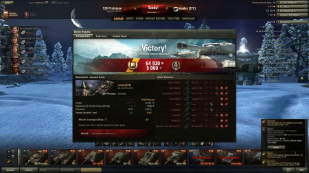 Free-shooting in Himmelsdorf, resultin in 2500+ exp and Ace Tanker