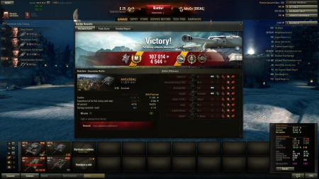 4th battle of today was a win with this one at last :D 6th battle with this tank.