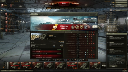 Great game in the Object 263: 7576 dmg, 4706 spotting dmg and 4590 dmg blocked by armor :)